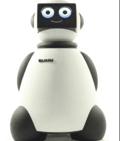 robot mayordomo doméstico Dumy destinado a la robótica social y educativa de los niños, enfermos y ancianos con forma de oso panda