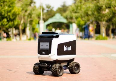 Así es Kiwibot, el robot que lleva la comida a tu hogar